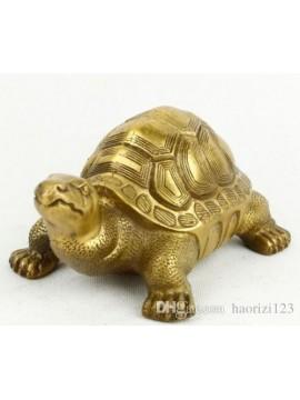 Brass copper tortoise furnishing